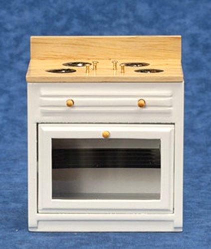 Melody Jane Casa Delle Bambole Bianco Oak T & G Cucina Base Miniatura Moderno Mobili Cucina