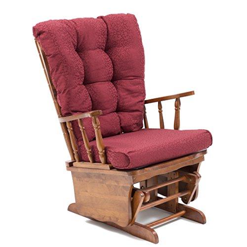 My_living dallas sedia a dondolo in legno bordeaux