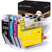 IUBEST Reemplazo para Brother LC3213 LC3211 cartuchos de tinta Compatible con MFC-J497DW DCP-J572dw DCP-J772DW DCP-J774DW MFC-J890DW MFC-J895DW (1 Negro, 1 Cian, 1 Magenta, 1 Amarillo)