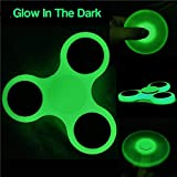 #1: Jaz Deals Tri-Spinner Fidget Toy Plastic EDC Hand Spinner For Autism and ADHD Rotation Time Long Anti Stress Toys ( Glows in Dark)