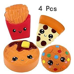 Anboor Squishies Emoji Pizza, Galletas,