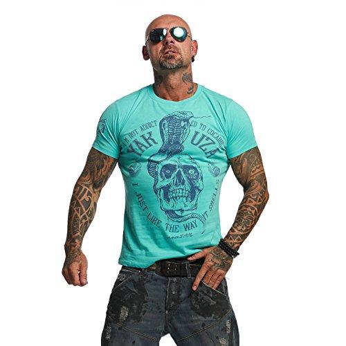 Yakuza Original Herren Addicted T-Shirt Turquoise