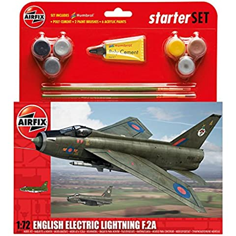 Airfix - Kit grande con pinturas, avión English Electric Lightning F2A (Hornby A55305)