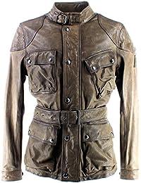 Chaquetas Hombres BELSTAFF 71050298 Speedmaster 2016 Jacket Man Pale Military