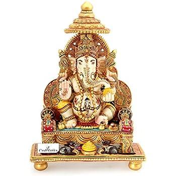 Buy collectible india large marble stone dust ganesha idol - Decorative stones online india ...