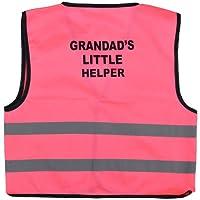 Unisex Kids High Visibility Vest Hi Vis Waistcoat with Grandad