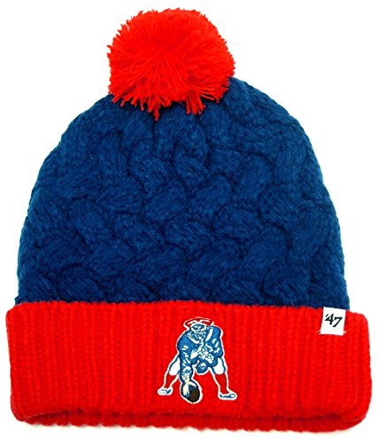 47 Brand NFL New England Patriots Women's Matterhorn Cuff Knit Hat, One Size, Royal -