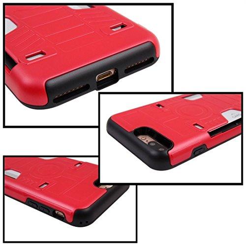iPhone Case Cover Pour iPhone 7 Plus champion de boxe Gold Belt résistant aux chocs TPU + PC combinaison cas avec slot pour carte ( Color : Gold ) Red