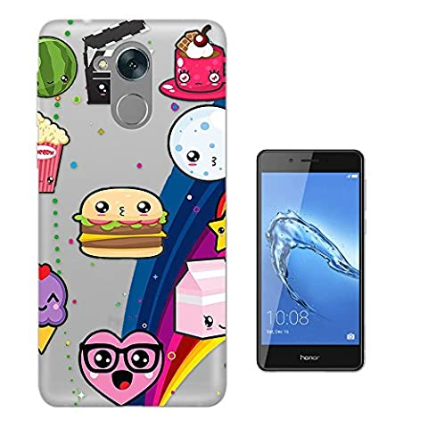 c00461 - Cool Fun Trendy Cute Cupcake Sweets Candy Burger Sketch Cartoon Kawaii Collage Design Huawei Honor 6C Fashion Trend Protecteur Coque Gel Rubber Silicone protection Case Coque