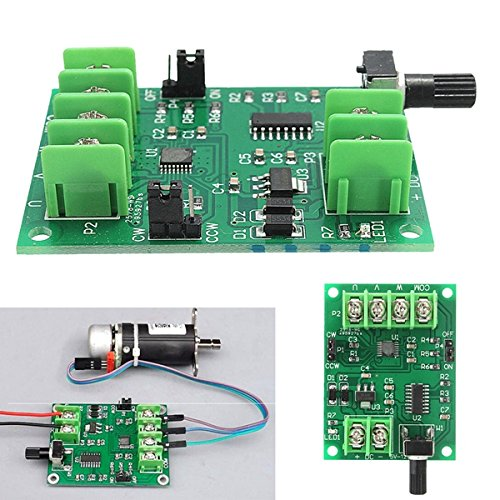 ILS - 5V-12V DC Brushless Motor Driver Board Controller For Hard Drive Motor 3/4 Wire (Switch-controller 7-rocker)