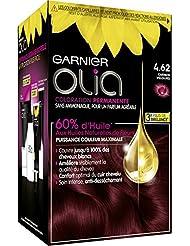 Garnier - Olia - Coloration Permanente à l'Huile Sans Ammoniaque Carmin - 4.62 Carmin Velours