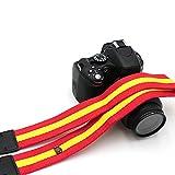ESP Universal Camera Shoulder Strap Neck Camcorder Belt for DSLR flag Espagne red yellow DSLR Canon FUJI Fujifilm Leica Nikon Pentax Olympus Sony Panasonic Pentax Samsung Sigma - ADAPTOUT FRENCH BRAND
