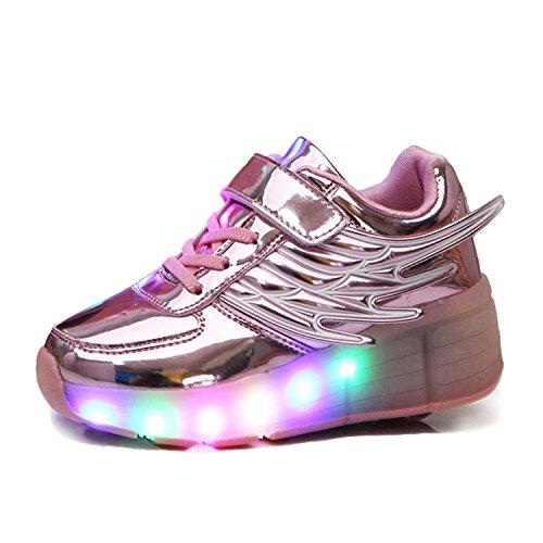Asa De Unisex De 7 Adultos Levou Cores Aidonger Skate Sapatos De Sapatilha Tênis Forma Brilhantes Cor Filhos Rosa Mudança Anjo qxfCwBYn