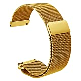 AUTULET Herren Edelstahl Uhrarmband Gold 18mm