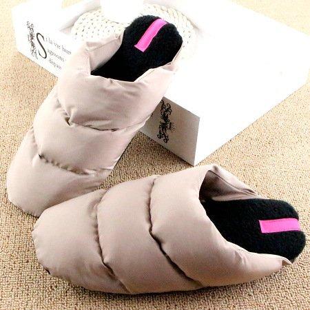 DogHaccd pantofole,Inverno in piuma di ispessimento pantofole di cotone leggero coppie soggiorno caldo scarpe antiscivolo fondo morbido cotone scarpe Il beige3