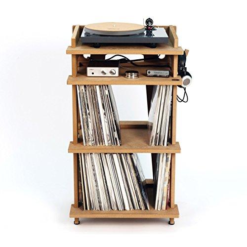 Estación de línea Phono Turntable Stand + almacenamiento de Discos de Vinilo, fabricado en los Estados Unidos