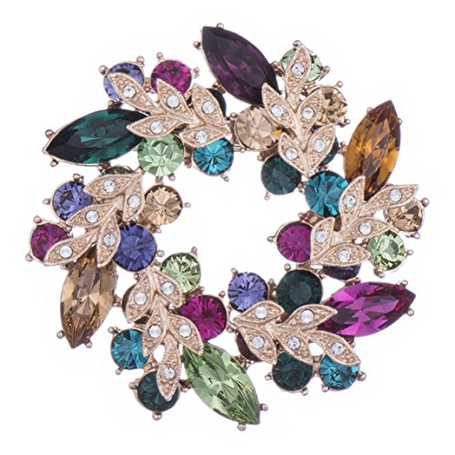 Galaxy Jewellery Swarovski Elements Spilla placcata in oro 18K