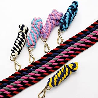Y-H Hy Two Tone Twisted Lead Rope 312-0072 Hy Two Tone Twisted Lead Rope Various Colours (Navy/Cambridge Blue) 51YIsiWZ46L