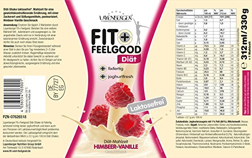 Layenberger Fit + Feelgood Diät Shake fixfertig Himbeer-Vanille, 3er Pack (3 x 312 ml)