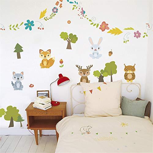 2 PACK,Glückliche Freunde Zitate Dekorative Wandaufkleber Für Kindergarten Kinder Schlafzimmer Dekoration Pvc Tiere Abziehbild Diy Dekor Wandkunst Geschenk