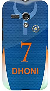 Kasemantra Dhoni Jersey Case For Moto G