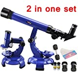 Sanyal 2 In 1 Science Telescope And Microscope Set, Science Astronomy Learning & Edcucational Toy (Multicolor)