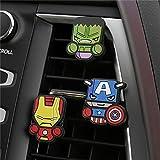 #9: Happy GiftMart 3pcs/set Automobile Car Vent Perfume Clip For Marvel Avengers Hero Air Freshener Accessories (Color 2)