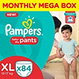 #10: Pampers XL Size Diapers Pants Monthly Pack (84 Pieces)
