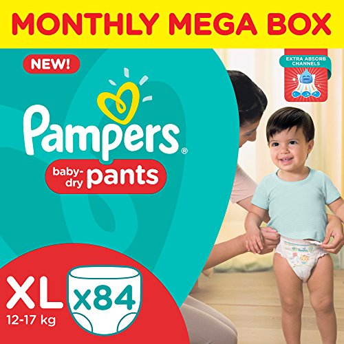 Pampers XL Size Diapers Pants Monthly Pack (84 Pieces)