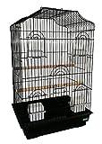 Heritage Cages 5019Richmond Grande cage à oiseaux perruche canari 47x 36x 68cm perruches Medium pour animal domestique Home