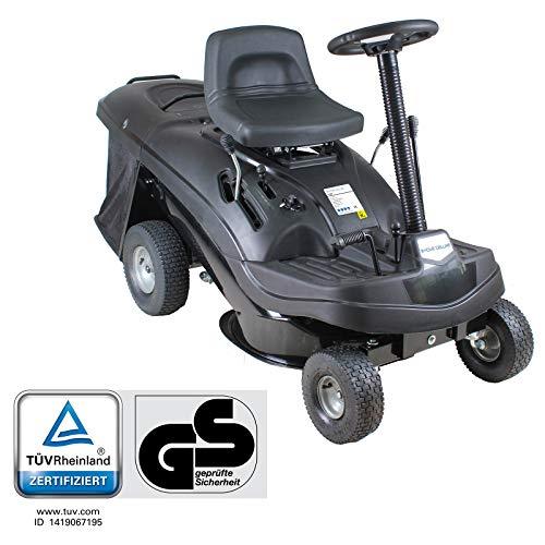 Home Deluxe - Benzin Aufsitzrasenmäher - Reaper Schwarz - Motorleistung: 4,5 kW (6,5 PS) - 150 Liter Auffangkorb - 61 cm Schnittbreite und höhenverstellbar - Inkl. komplettem Zubehör