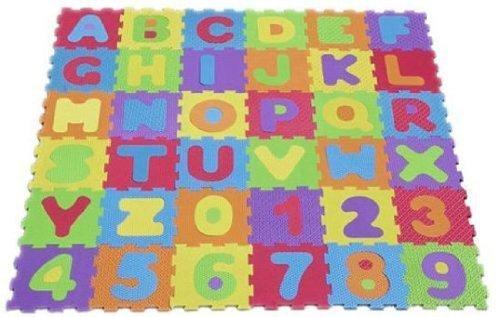 Tapis de jeu en mousse / puzzle pour enfant Lettres/chiffres