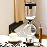 waterfail Glass jug 3 Cups Siphon Pot Coffee Pot Set Filtered Siphon Coffee Maker teapot Heat Resistant Household Pot