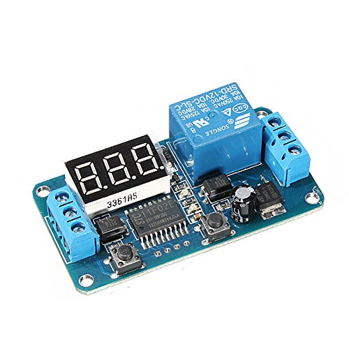 MYAMIA 3Pcs Geekcreit Dc 12V LED-Display Digitales Delay-Timer-Steuerschalter-Modul PLC - Delay-timer