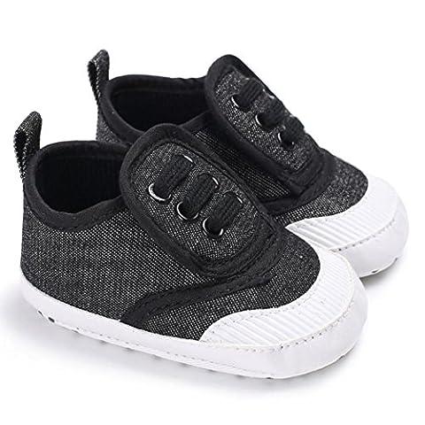 Chaussures bébé,Xinan Chaussures Garçon Fille Cuir Souple 0-18Mois! (Gris foncé, 6~12 M)