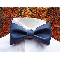 Premium Navy Blaue Leder Fliegep