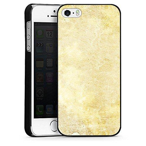 Apple iPhone 5s Housse Étui Protection Coque Pierre Look motif Mur CasDur noir