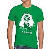style3 Mononoke Hime Herren T-Shirt Wolf Prinzessin Anime