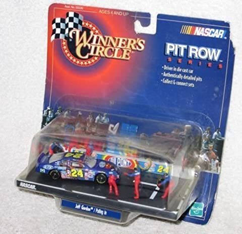 1999 Jeff Gordon #24 Dupont Superman Monte Carlo 1/64 Scale Pulling In Tire Change Pit Stop Edition Winners Circle by NASCAR