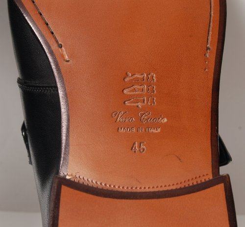 Antica Calzoleria Campana Schuh | Mod. 506M | Kalbsleder | Monkstrap | braun oder schwarz Schwarz