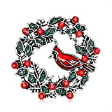 Gespout Brosche Modern Damen Herren Elegant Vintage Mantel Pullover Künstliche Kristall Weihnachtskranz Brooch Nadel Weihnachten Brosche Geburtstag Geschenk Pin Kleidung Zubehör Dekoration