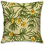 Aoyutiy Taie d'oreiller Housse de Coussin Ferme décor Polyester Housse d'oreiller pour canapé Coussin canapé Voiture Chambre 18 x 18 Pouces Rooibos sans Couture