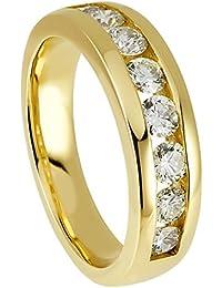 Diamond Line Damen - Ring 585er Gold 8 Diamanten ca. 1,00 ct., gelbgold