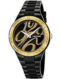 Calypso K5632-4 - Reloj para mujeres, correa de silicona color negro