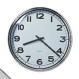 Ikea-Pugg orologio da parete, cromato
