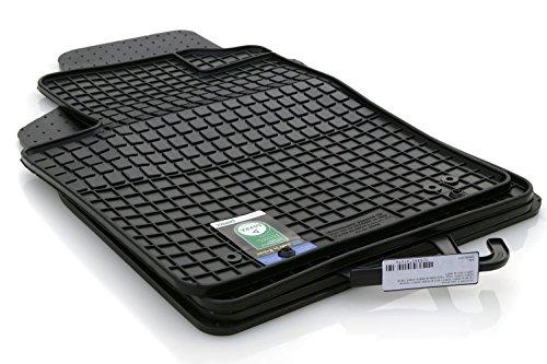 kh Teile Gummimatten Original Qualität Gummi Fußmatten 4-teilig schwarz - Autoteppich, Fußmatte 500 Fiat