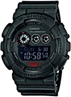 G-Shock Men's Quartz Watch with Black Dial Digital Display and Black Resin Strap GD-120MB-1ER