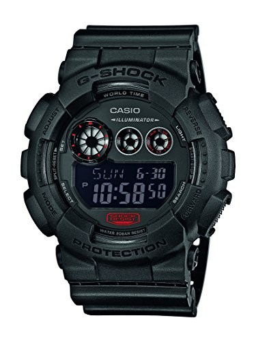 Casio-Herren-Armbanduhr-G-Shock-Analog-Digital-Quarz-Schwarz-Resin-GD-120MB-1ER