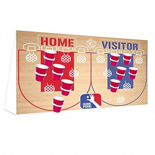 Original Cup Dunk Pong, Beer Pong Basket, Karton / Kunststoff (Beige / Rot / Blau, Standardgröße, 20 Plätze)