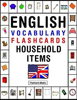 English Vocabulary - Flashcards - Household items (FLASHCARD ...